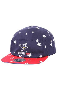 b76268bf5eeaa The Skeet 5 Panel Hat in Red and Navy by Born Fly 5 Panel Hat