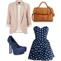 Navy with polka dots <3