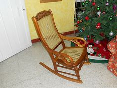 ROCKING CHAIR AUTHENTIC CEDAR WOOD HAND MADE MEXICAN CRAFT BEJUCO ARTISTIC