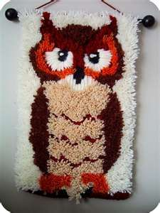 Latch hooking!  I think I had this very one!  I know that it was on owl, but I never completed it!