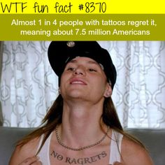 How many people regret their tattoos - WTF fun facts