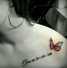 3D butterfly tattoo 45 - 65 3D butterfly tattoos <3