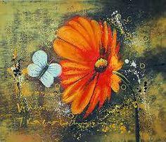 """Résultat de recherche d'images pour """"tableau abstrait taches et fleurs"""""""