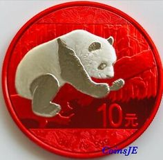 1 oz  .999 pure Silver NEW 2016 Chinese Panda Coin 24k Gold Gilded