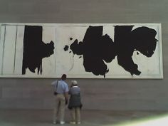 Robert Motherwell, at the National Gallery East Wing