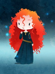 Disney Princesses Merida by ~capdevil13 on deviantART