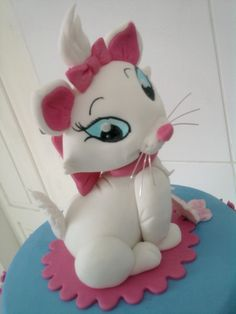 topo de bolo gatinha marie