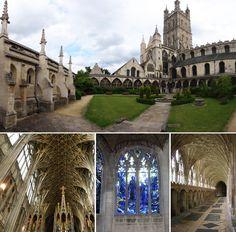 Catedral_Gloucester/ el lugar que interpretó al Colegio Hogwarts de Magia y Hechicería, donde Harry Potter y sus amigos estudiaban todos los años.