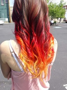 Fire ombre hair dye