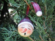 Painted Snowman Spoon Christmas Ornament by SantaHeaven on Etsy, $15.00 #teampinterest