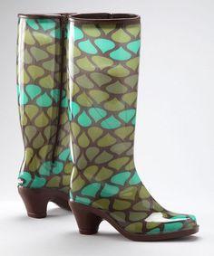 haha high heel rain boots???