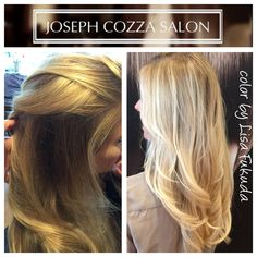 Perfect blonde balayage highlights glaze olaplex color for 77 maiden lane salon