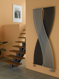 "Modern ""S"" Shaped Radiators by Ionut Ciofu, posted Grey Home Decor, Modern Decor, Kitchen Radiator, Home Radiators, Central Heating Radiators, Vertical Radiators, Urban Decor, Designer Radiator, Best Flooring"
