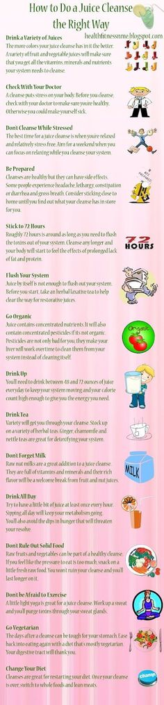 Goal: By 7/1/13 complete a juice cleanse (after biopsy) to restart your…
