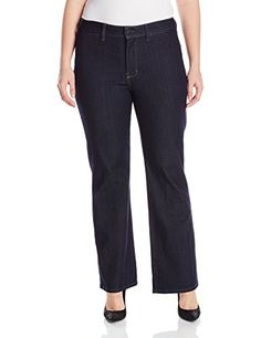 NYDJ Women's Plus-Size Isabella Trouser Jeans, Dark Enzyme, 18W *** Find out more about the great product at the image link.