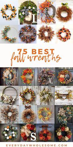 Diy Fall Wreath, Autumn Wreaths, Wreath Crafts, Christmas Wreaths, Diy Crafts, Hydrangeas, Deco Mesh, Orange, Yellow