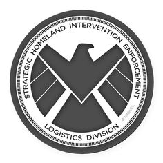 In the Marvel Universe, SHIELD is the ultimate in global counter-espionage, and this Agents of SHIELD design features the SHIELD logo with a white eagle surrounded in gray.