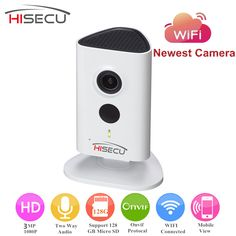 English Version 3 Megapixel WIFI Camera  Indoor IP Camera 1080P 10m IR Distance Wireless IP Camera Built-in Mic Speaker Support #CLICK! #clothing, #shoes, #jewelry, #women, #men