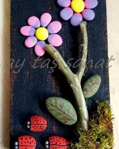 Stone Crafts, Rock Crafts, Diy And Crafts, Arts And Crafts, Pebble Painting, Pebble Art, Stone Painting, Kids Art Class, Art For Kids