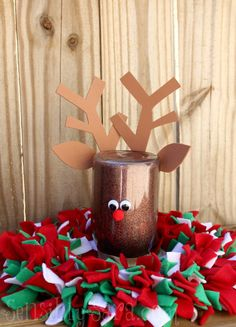 Rag Wreath and Mason Jar Craft | SensiblySara.com