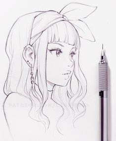 Manga Girl Sketch Colored Design Digital Drawing Pencil Pen - See How People . - Healthy Skin Care - Manga Girl Sketch Colored Design Digital Drawing Pencil Pen – See How People … – - Art Manga, Manga Drawing, Anime Art, Drawing Pin, Drawing Faces, Cute Drawings, Pencil Drawings, Pencil Art, Bleistift Design