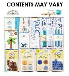 Doodlebug+Design+-+Embellishment+Value+Pack+-+Vacation+at+Scrapbook.com