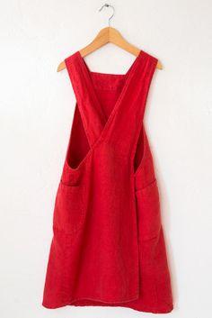 linge particulier red baja apron
