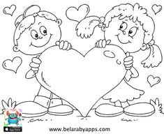 Happy children's day coloring pages - free printable ⋆ BelarabyApps Heart Coloring Pages, Online Coloring Pages, Animal Coloring Pages, Printable Coloring Pages, Coloring Pages For Kids, Coloring Books, Free Coloring, Coloring Sheets, Colouring