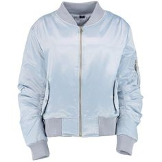tessa bomber ma1 satiné ($33) ❤ liked on Polyvore featuring outerwear, jackets, tops and satine