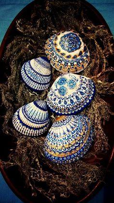 Seashell Painting, Seashell Art, Seashell Crafts, Beach Crafts, Dot Painting, Stone Painting, Deco Marine, Seashell Projects, Shell Decorations