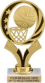 Basketball Midnight Star Theme Trophy