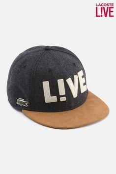 cba32104fc7 Lacoste Men s L!VE Wool Flannel Flat Brim Cap   Caps  amp  Hats Designer