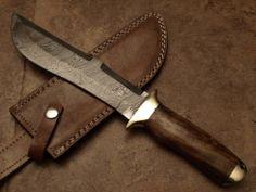 "D405W DAMASCUS STEEL CUSTOM HAND MADE BOWIE KNIFE 13"""