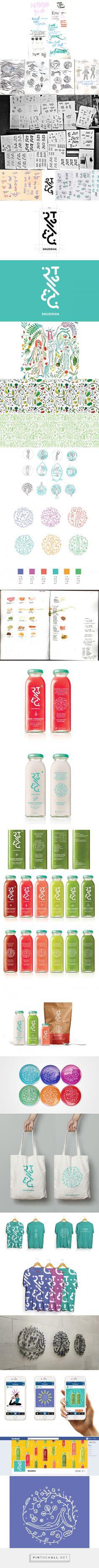 Branding for Shuddha on Behance- https://www.behance.net/gallery/32217867/Branding-for-Shuddha - created via https://pinthemall.net