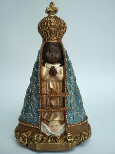 Madonna, Decoupage, Buddha, Statue, Christmas Ornaments, Holiday Decor, Plaster Art, All Saints, Freckles