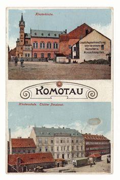 Komotau- Klosterkirche. Klosterschule. Töchter Pensionat. 1915 Kirchen, Taj Mahal, Spaces, Building, Movie Posters, Movies, Travel, School, 2016 Movies