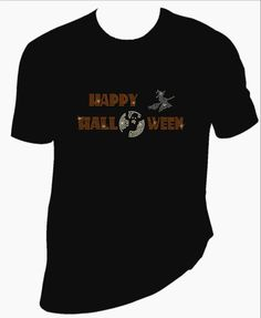 Halloween bling Tshirt made with rhinestones. - pinned by pin4etsy.com