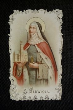 Antique holy card die cut Saint Hedwigis Hedwig par PapersOfOld, $14.00