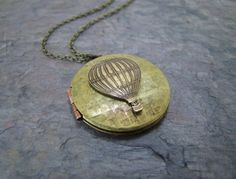 $25 hot air balloon locket necklace