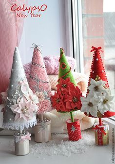 "New Year 2015 handmade.  Fair Masters - handmade decorative Christmas trees ""Cristmas"".  Handmade."