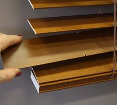 Privacy slats are not corded, so they allow easy removal for cleaning