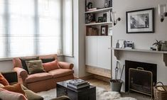 The dilapidated Victorian house that's now 'indestructible' Modern Minimalist, Minimalist Design, Alcove Cupboards, Small Storage, Victorian Homes, Decoration, Small Spaces, Home And Family, Lounge