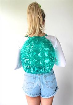 90S CLUELESS BLOW UP INFLATABLE BAG BACKPACK