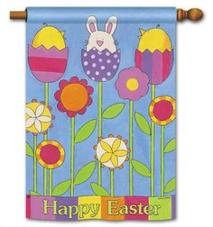 Magnet Works House Flag - Easter Garden Decorative Flag at Garden House Flags at GardenHouseFlags