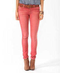 Sandblasted Skinny Jeans | FOREVER21 - 2011280244