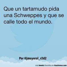 Tartamudo pidiendo. #humor #risa #graciosas #chistosas #divertidas Frases Humor, Spanish Lessons, Funny Jokes, Have Fun, Funny Pictures, Lol, Words, Quotes, Random