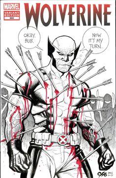 Frank Cho Raffle Art - Wolverine Sketch Cover  Comic Art