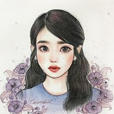 .◦✿◦◦✿◦.¸¸.◦❤◦.¸¸.◦✿✿¸◦.¸¸.◦❤◦.¸¸.◦◦✿✿ Kpop Drawings, Cute Drawings, Korean Art, Cute Cartoon Wallpapers, Kpop Fanart, Anime Art Girl, Disney Art, Cartoon Art, Cute Art