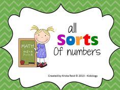 Number Sorting Math Center!