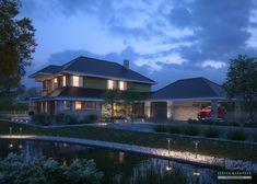 Projekt domu LK&1386 Home Fashion, Mansions, House Styles, Home Decor, Mansion Houses, Homemade Home Decor, Manor Houses, Fancy Houses, Decoration Home